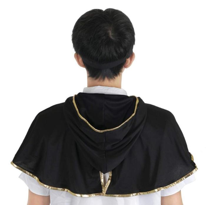 Black Clover Asta Cloak Headband Anime Cosplay Costume