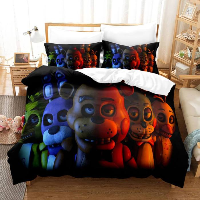 Five Nights At Freddy'S Cosplay Bedding Set Duvet Cover Comforter Bed Sheets