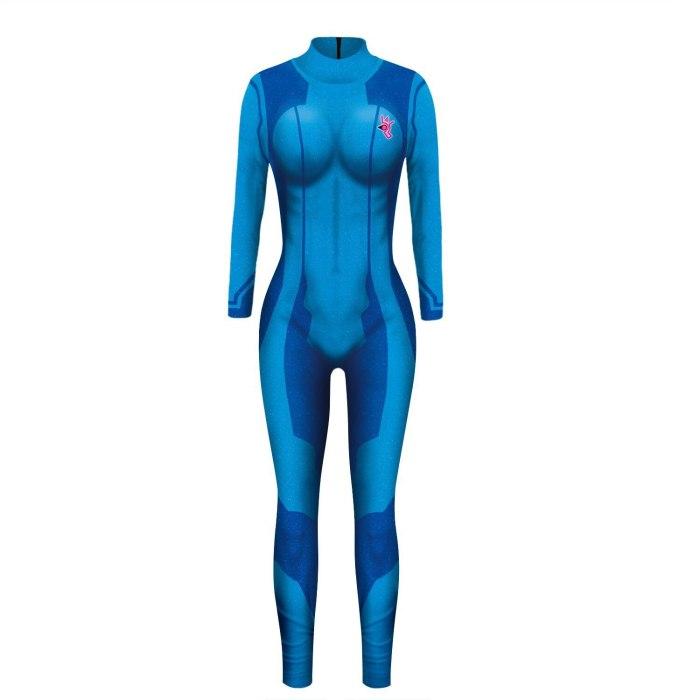 Megatroid&Samus Samus Aran Metroid Zero Suit Cosplay Metroid Costume Lycra Spandex Metroid Fusion Game Zentai Catsuit Bodysuit