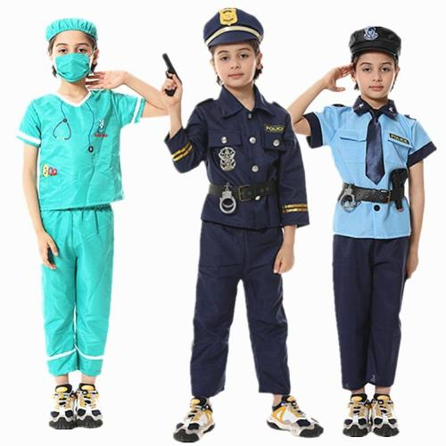 Boy Girl  Profession Cosplay Multi Career Doctor /Judge/Vet Pilot/ Fireman /Policemen/Kid For Halloween/ Carnival Party Costume
