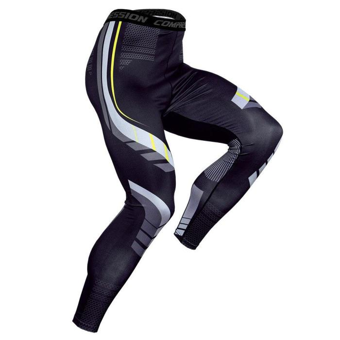 Men Compression Skin Tights Leggings Run Jogging Gym Workout Crossfit Bodybuilding Male Bottom  Trousers Fitness Sports Pants