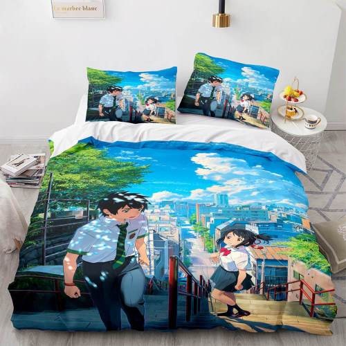 Anime Your Name 3-Piece Bedding Sets Duvet Covers Comforter Bed Sheets