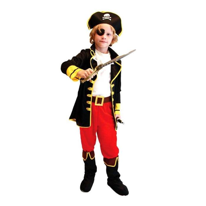 Kids Boys Pirate Cosplay Halloween Costumes For Children Birthday Party Jake Pirate Costumes Dress Size M-Xxl