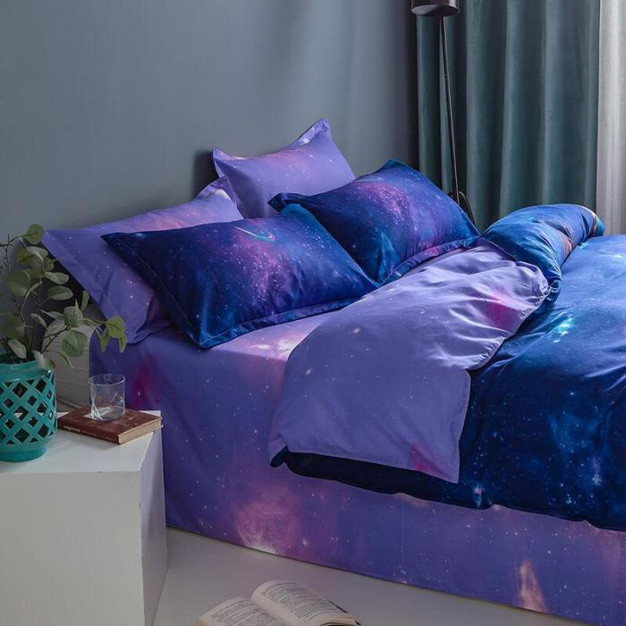 Galaxy Bedding Set Duvet Covers Comforter Bed Sheets For All Seasons