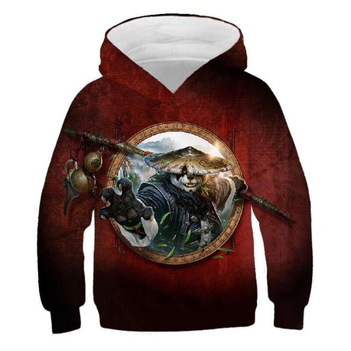 Children Movie Panda 3D Printed Hoodies Boys Girls Cute Sweatshirts Hoodie Kids Fashion Pullovers Clothes Tops 4T-14T Sweaters