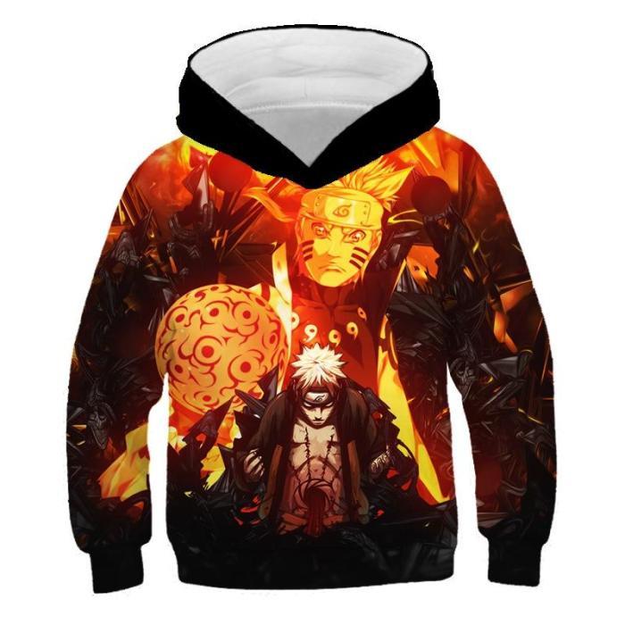 Children Cartoon Anime Nαrutos 3D Print Hoodies Kids Clothes Girls Fashion Hoodie Boys Autumn Sweatshirt With Hood
