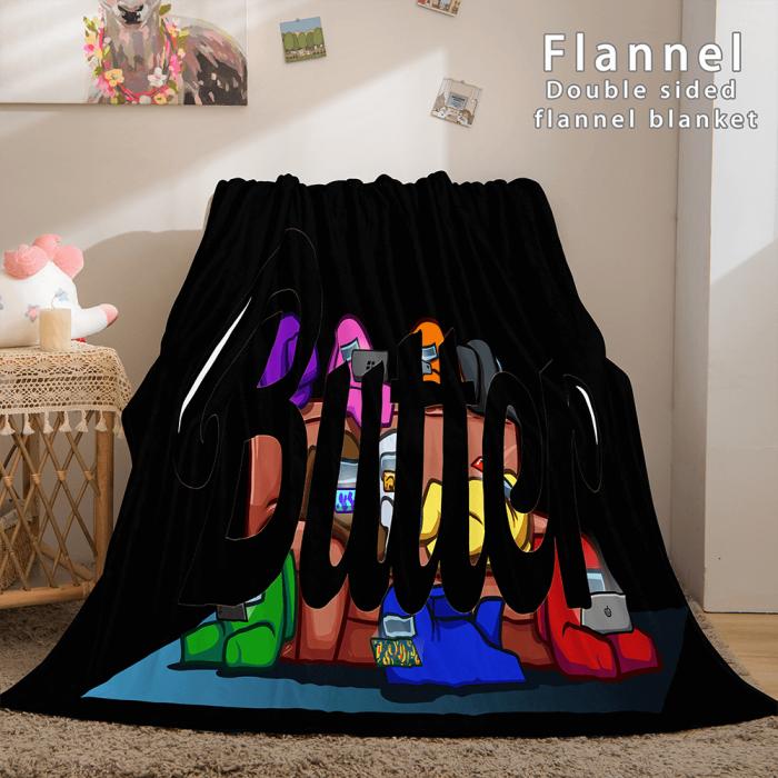 Kpop Bts Butter Bangtan Boys Cosplay Flannel Blanket Comforter Bed Sets