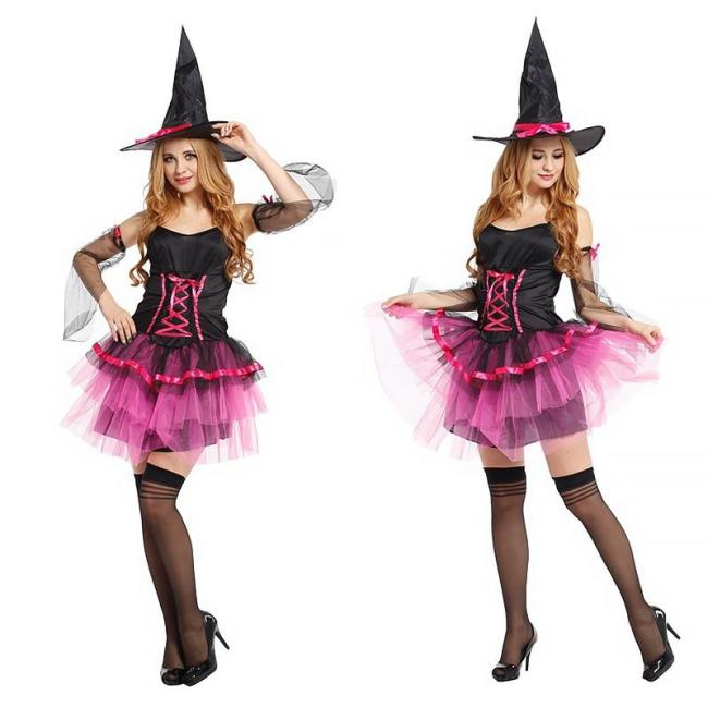 Halloween Costumes Adult Kids Gril Scary Witch Vampire Cosplay Fancy Dress Up Carnival Suits Anime Clothes Christmas Medieval