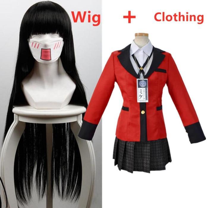 Anime Vetement Manga Yomoduki Runa Cosplay Costume  School Uniform Jabami Yumeko Gambler Girls Clothes Women Zentai Suit