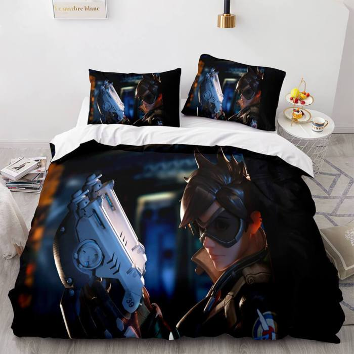 Game Overwatch Cosplay Bedding Set Duvet Covers Comforter Bed Sheets