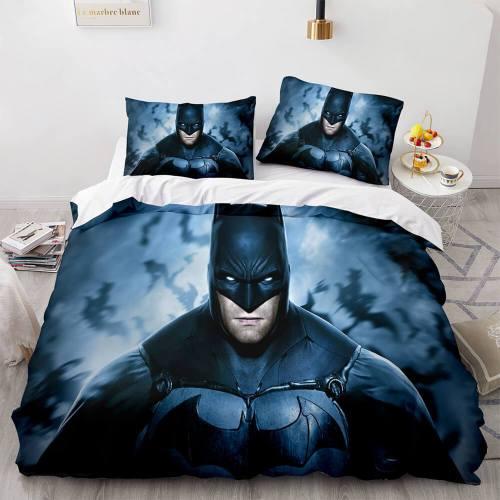 Batman Cosplay Full Bedding Set Duvet Cover Comforter Bed Sheets