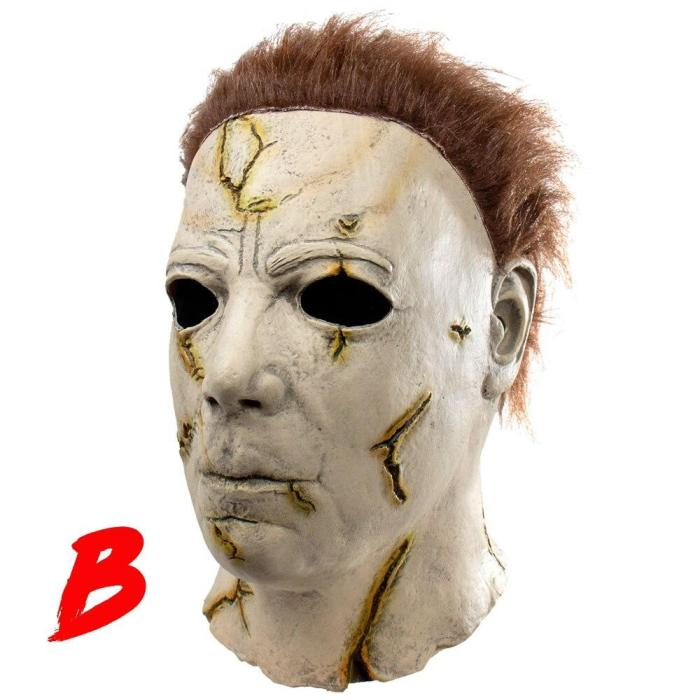 High Quality Mask Halloween Horror Movie Michael Myers Cosplay Adult Latex Full Face Helmet Party Props(5 Size To Choice)