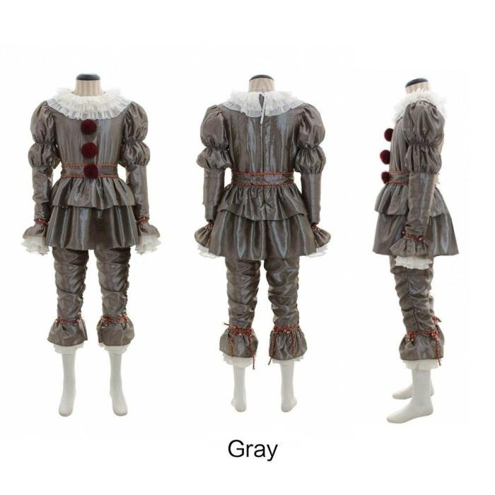 Cosplay Costume Pennywise Fancy Halloween Outfit Suit Clown Stephen King'S It  Costume Adult Men Women Costume Clown Costume