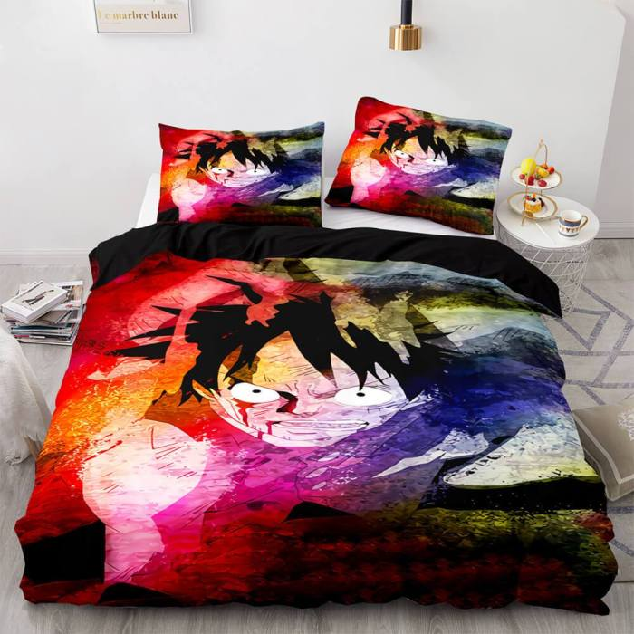 One Piece Cosplay Bedding Sets Duvet Covers Quilt Comforter Bed Sheets