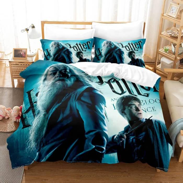 Harry Potter Cosplay Bedding Set Duvet Cover Comforter Bed Sheets