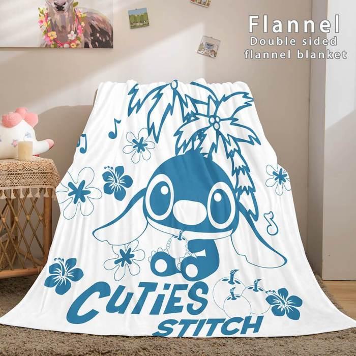 Stitch Cosplay Flannel Throw Blanket Micro Fleece Plush Blanket