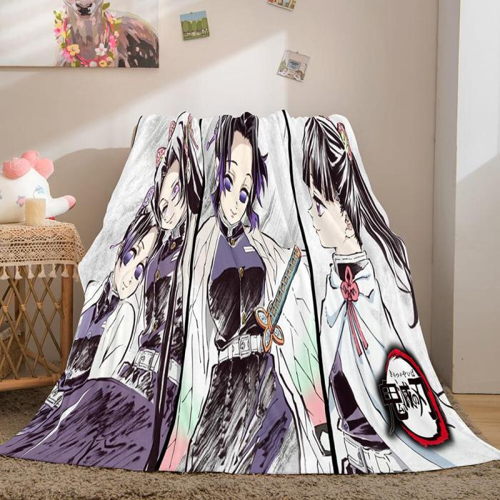 Demon Slayer Cosplay Flannel Fleece Throw Blanket Comforter Sets