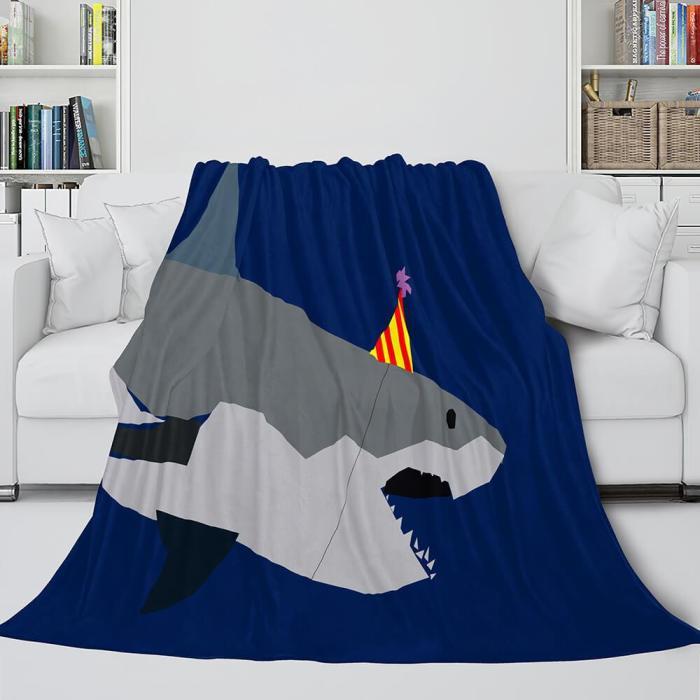 Shark Flannel Blanket Fleece Throw Blanket Wrap Nap Bedding Sets