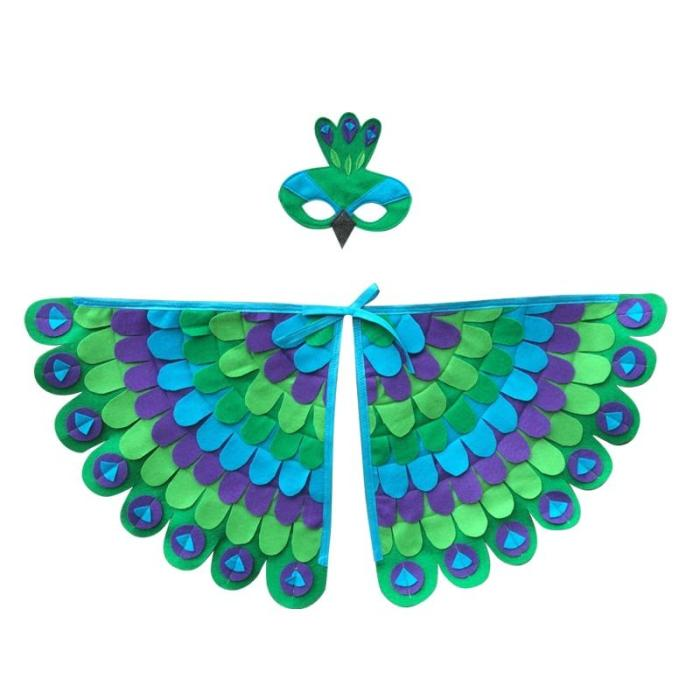 Kids Animal Costume Birds Felt Wings Fun Cosplay Halloween Costumes Butterfly Wing