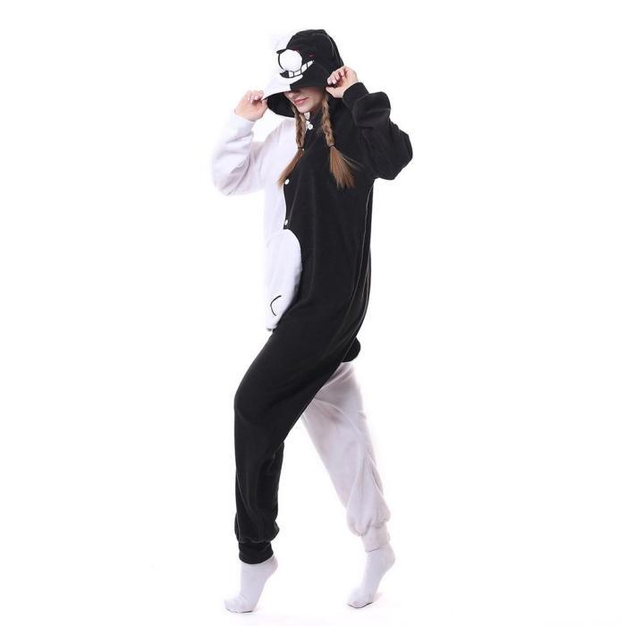 Adult Anime Danganronpa Monokuma Gloomy Bear Sleepwear Pyjamas Cosplay Costume Clothes