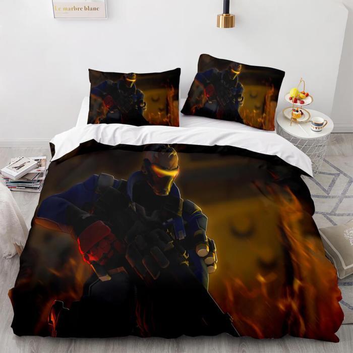 Ps4 Overwatch Cosplay Bedding Set Duvet Covers Comforter Bed Sheets