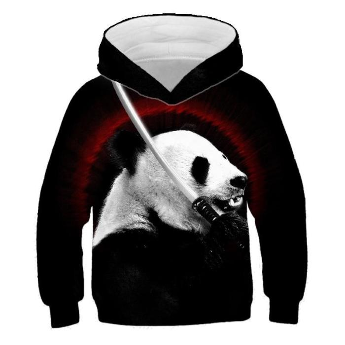 Baby Girls Clothes Cute Panda 3D Print Hoodies Kids Sweatshirts Hoodie Sweater For Children Outwfits Baby Boys Long Tops