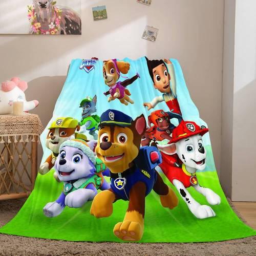 Paw Patrol Flannel Fleece Throw Cosplay Blanket Halloween Comforter Sets