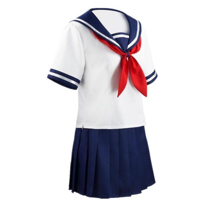 Japanese Game Ayano Aishi Cosplay Costume Yandere Simulator Yandere Chan Sailor Suit Girls Jk Uniforms Halloween Party Costumes