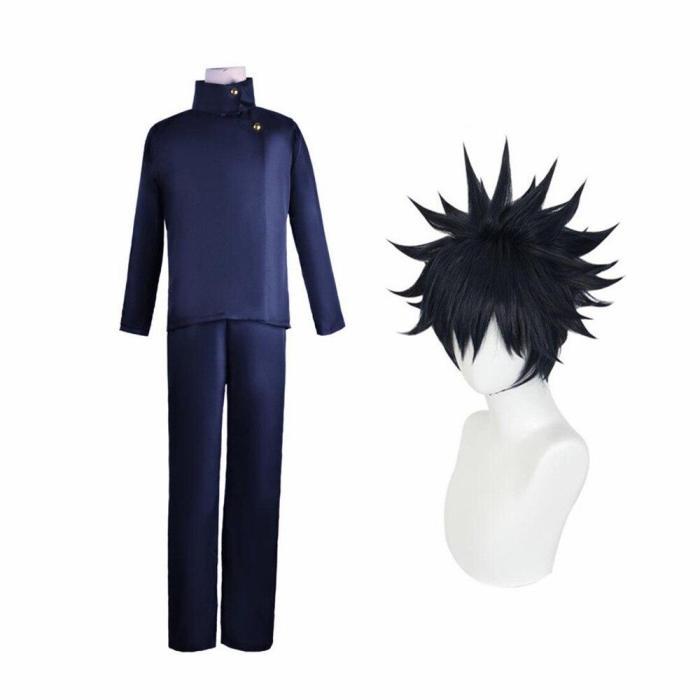 Anime Jujutsu Kaisen Fushiguro Megumi School Uniform Cosplay Costume