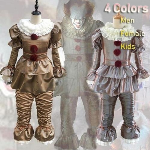 Est Stephen King'S It Pennywise Halloween Costume Cosplay Halloween Party The Clown Halloween Outfit (Men & Female & Kids)