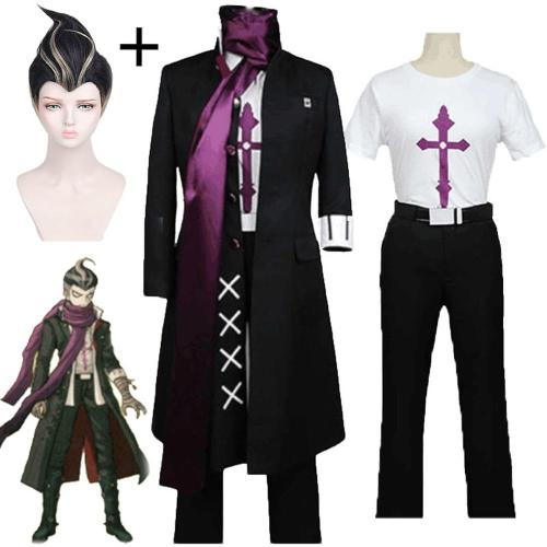 Game Danganronpa 2 Cosplay Gundam Tanaka Black Costume Full Sets Men Women Halloween Carnival Party Stage Performance Costumes