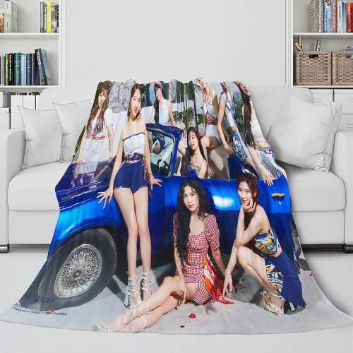 Jyp Ent Twice 10Th Taste Of Love Album Flannel Blanket Bedding Sets