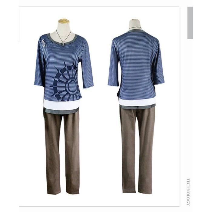 Rantaro Amami Cosplay Costume Japanese Game Danganronpa V3 Suit T-Shirt Pants Necklace Love Live Cosplay Wig Halloween Costume