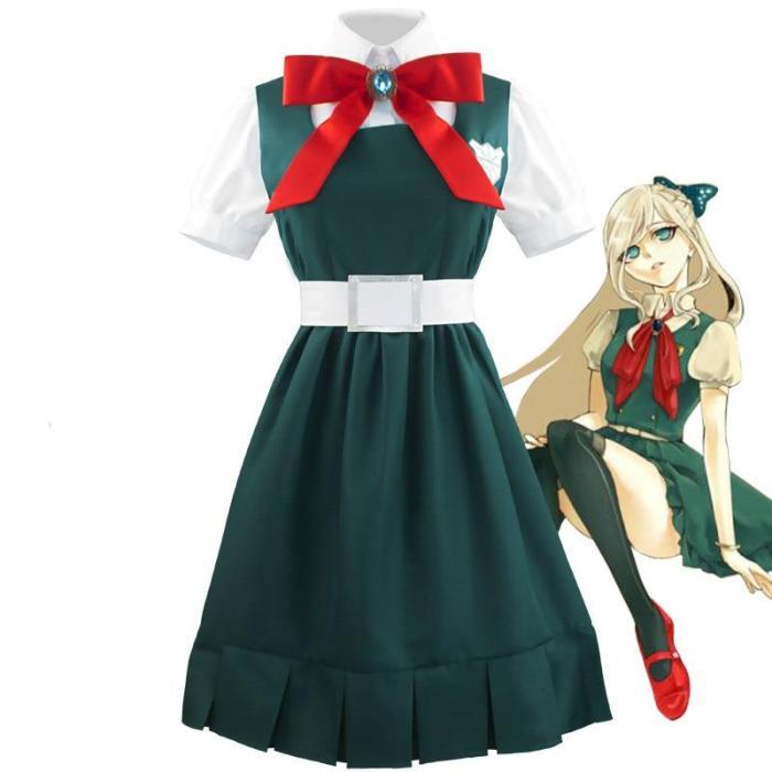 Halloween Cosplay Costumes Super Danganronpa Sonia Nevermind Cosplay Suit (Shirt+Skirt+Sock+Blet+Cravat) Stage Costume