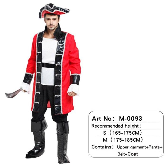 Halloween Costumes Adult Man Pirate Attached Hat Cosplay Christmas Carnival Party For Adult Women Man Dress Up