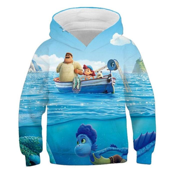 Baby Girls Cartoon Anime Luce 3D Print Hoodies Children'S Clothing Kids Cute Clothes Boys Autume Sweatshirts Pullover Outfits