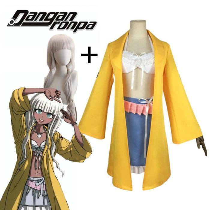 Danganronpa V3:Killing Harmony Angie Yonaga Cosplay Costume Uniform Game Halloween Yellow Suit With Wig