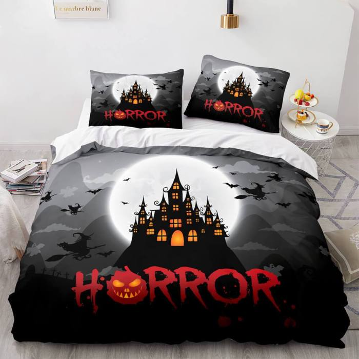 Horror Halloween Decor Bedding Sets Duvet Covers Comforter Bed Sheets