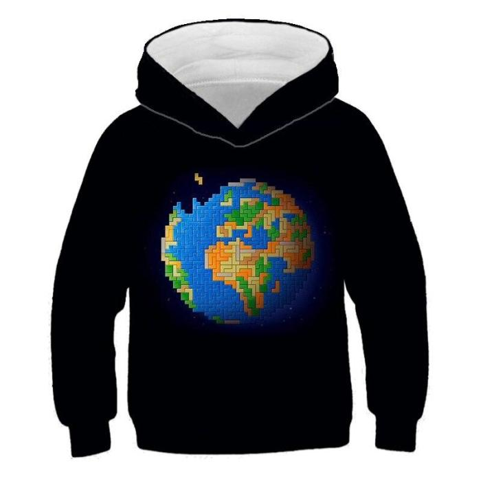 Boys Sweatshirt Love Cube Blockshoodies Cool Fashionable Children Autumn 3D Printed Hoodie Girl Pullover Hooded Sweatshirts