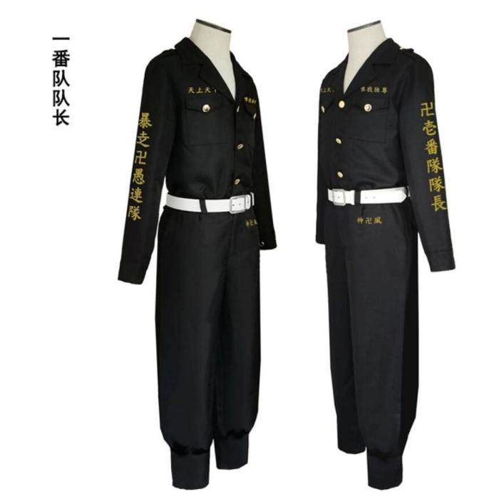 Anime Tokyo Revengers Hooligan Black Team Uniform Suit Cosplay Costumes Boys Role Play Clothing