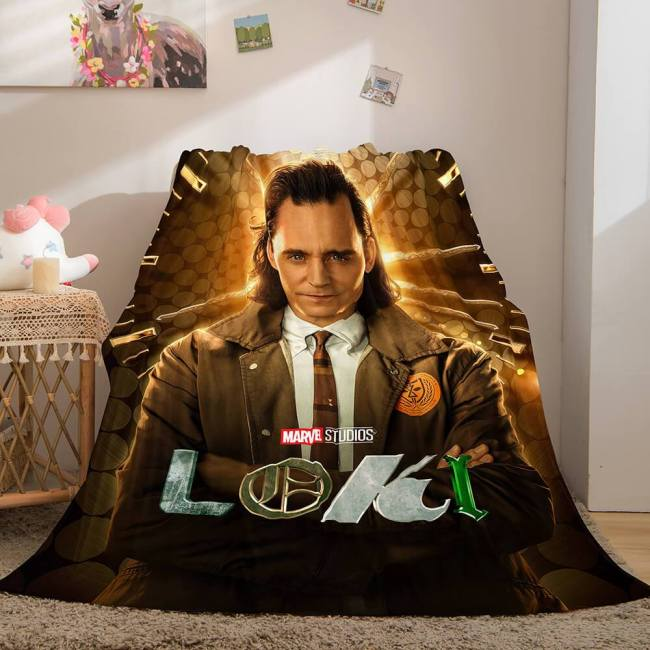 Loki Cosplay Blanket Flannel Throw Blanket Micro Fleece Plush Covers