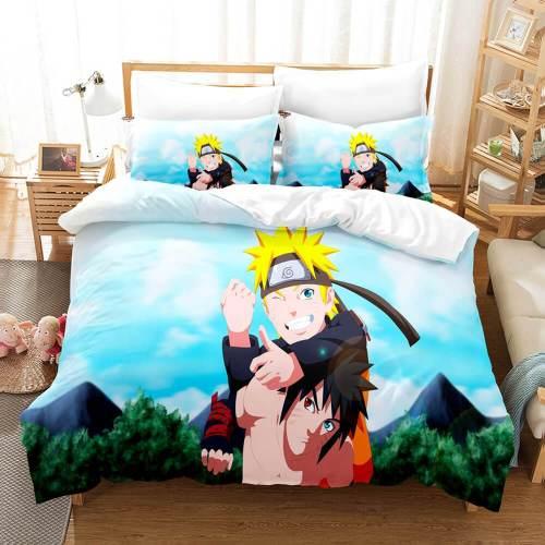 Naruto Cosplay Full Bedding Set Duvet Cover Comforter Bed Sheets