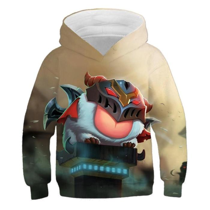 Children Hoodies Little Hero Yasuo 3D Printing Game Sweatshirts Clothes 4-14T Kids Casual Pullover Boy Girl Long Sleeve Sweater