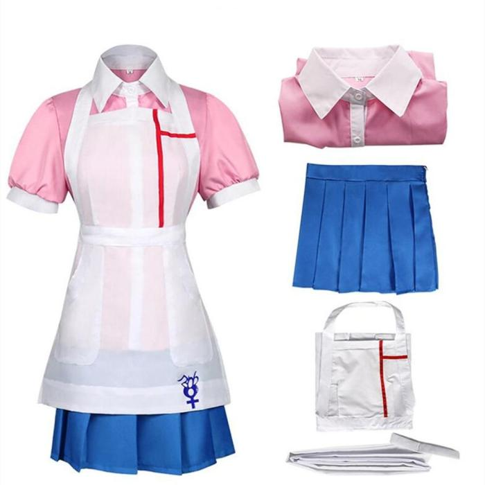Danganronpa Mikan Tsumiki Anime Uniform Woman Dress Cosplay Costume Clothes