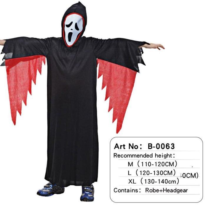 Halloween Boys Scream Ghost Face Costume Kids Vampire Costume Child Skeleton Costume Cosplay Purim Carnival Dress Up