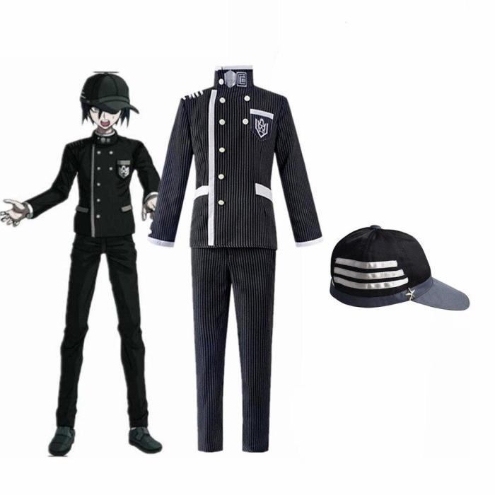Anime Danganronpa Saihara Shuichi Detective Uniform Hat Set Cosplay Costume