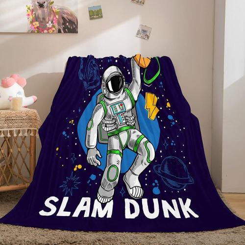 Space Astronaut Blanket Soft Flannel Blanket Comforter Bedding Sets