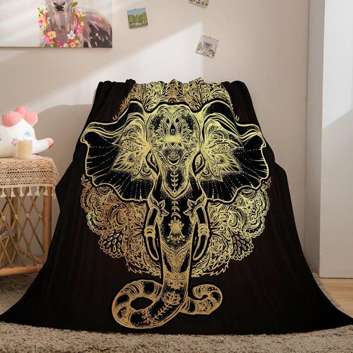 Golden Rune Soft Flannel Fleece Throw Cosplay Blanket Comforter Set