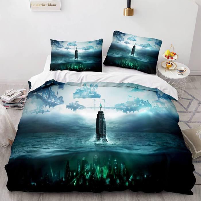 Resident Evil Cosplay Bedding Set Full Duvet Cover Comforter Bed Sheets