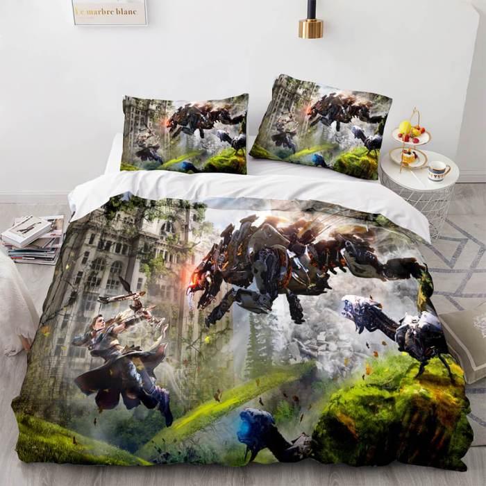 Horizon Zero Dawn Bedding Set Quilt Duvet Covers Comforter Bed Sheets